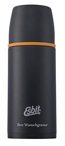Esbit Isolierflasche - 0,5 L, schwarz, mit persönlicher Wunschgravur