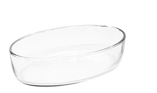 Red Co. Oval Clear Glass Casserole Baking Dish, Oven Basics Bakeware — 1.6 Quart - 10¼' x 7¼' x 2¼'