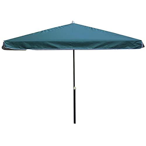 Sombrilla de playa portátil cuadrada al aire libre, sombrilla de patio fácil de abrir y cerrar, utilizada en el patio de un restaurante de playa, etc. / Verde / 200×200×190cm