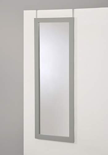 EHP Grey Finish Wooden Cheval Bedroom Wall Mount Mirror or Over The Door