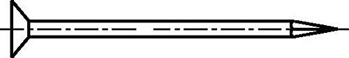 DIN 1151, Drahtstifte Senkkopf, 7 x 210, blank, VE: 5Stück