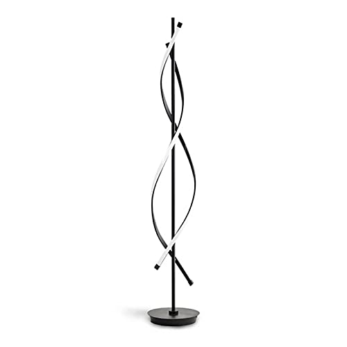 yywl Lámparas de pie Moderno diseño Creativo Luces de Piso nórdico ADN Sombra Negra lámpara de pie Blanco luz de pie para la Sala de Estar Dormitorio Barra de vestíbulo Decoración hogareña