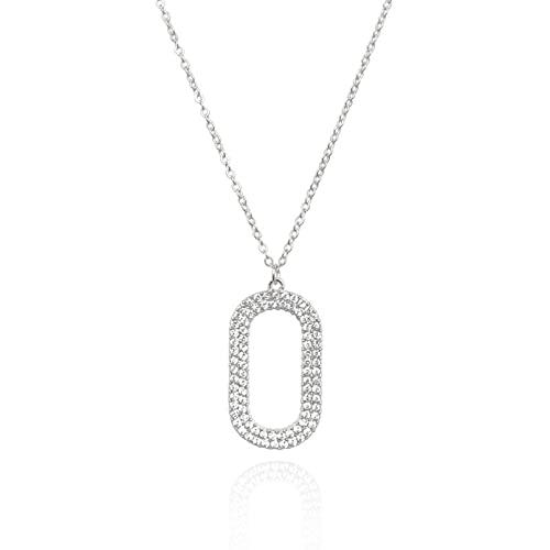 YQMJLF Collar Moda Accesorios Collares Mujer Collar de Diamantes en Forma de O Estilo Dulce Temperamento Estilo Femenino Cadena de clavícula joyería de Moda señoras Joyas Navidad año Nuevo Regalo