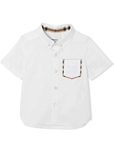 BURBERRY Luxury Fashion Baby - Jungen 8022437 Weiss Hemd | Frühling Sommer 20