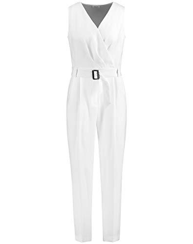 Gerry Weber Damen Jumpsuit ohne Ärmel figurumspielend Off-White 44