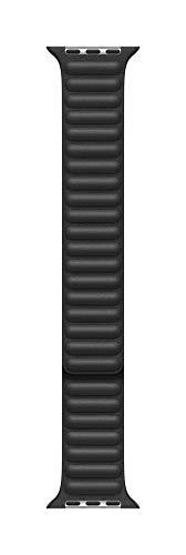 Apple Watch (40mm) Lederarmband mit Endstück, Schwarz - Small