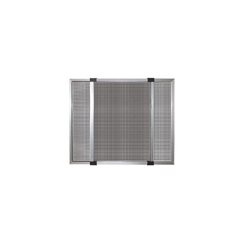 GrecoShop Zanzariera Estensibile in Alluminio con Telaio per Porte/finestre con tapparella 50x70/132 cm