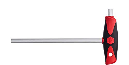 Wiha Stiftschlüssel mit Quergriff ComfortGrip Sechskant mattverchromt (26167) 4 x 150 mm
