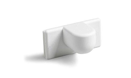 Ventanara Magnethalter Jalousie ohne Bohren Weiß 2er Set