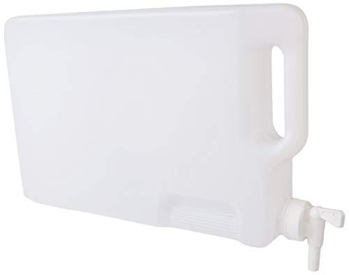 Hudson Exchange-1001382 5 Liter Hedpak Container with Spigot, HDPE, White