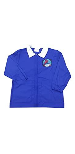Grembiule blu corto casacca per bambino Marvel Spiderman scuola elementare per ragazzo (BLU HU6744, 80-9 ANNI / 134 CM)