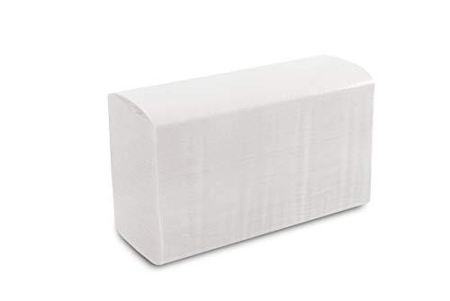 Hygiëne VOS 3990 vellen 2-laags papieren handdoeken ZZ V-vouwhanddoeken handdoeken van gerecyclede kwaliteit, wit 15 x 266 vellen 23 x 24 cm voor hotel gastronomie
