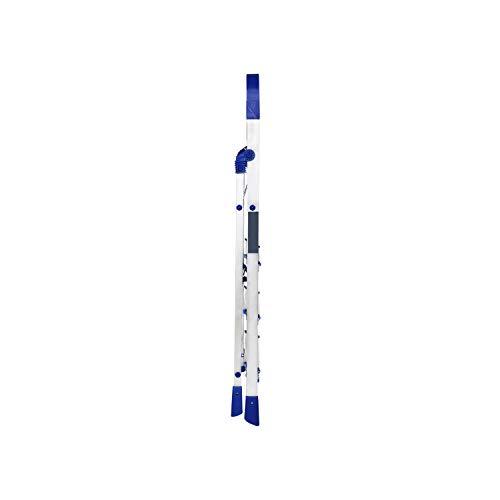 Happer Premium Foldable Aluminium Step Ladder, Clamber Pro, 4 Steps (Blue & Satin)