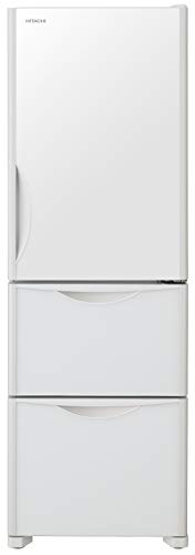 日立 冷蔵庫 375L 3ドア 右開き R-S38JV XW 幅60.0cm 奥行66.5cm まんなか野菜タイプ 真空チルド うるおい野菜室 クリスタルホワイト