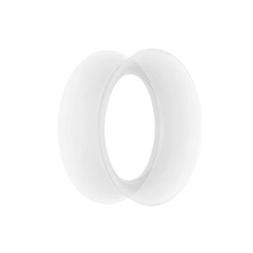 Treuheld®   3mm Ohr Flesh Tunnel   Silikon   Durchsichtig/Klar/Transparent  dünn   nickelfrei, hautfreundlich, antiallergen   weich + Soft