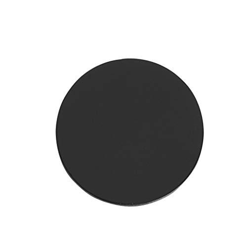 Joocyee 1 Pieza de Repuesto de Placa de Metal de Espejo Ovalado de 32 * 23 mm para Soporte de teléfono magnético para Montaje en automóvil, Parche de imán de Espejo Ovalado, Dorado/Rosa Fuerte/Negro