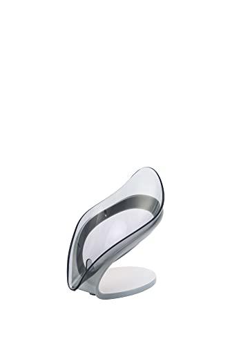 Wihgfcv Caja de jabón Auto Drenaje de jabón, Caja de jabón con Ventosa for Ducha,baño, Fregadero de Cocina(no golpeado) (Color : Gray)