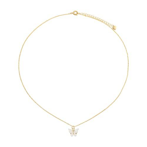 Collar de mariposa simple simple cadena de clavícula de temperamento