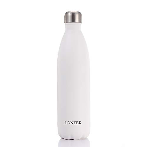 lontek Trinkflasche Edelstahl Wasserflasche Doppelwandig Vakuum Isoliert Edelstahl Sport Trinkflaschen 750ml…