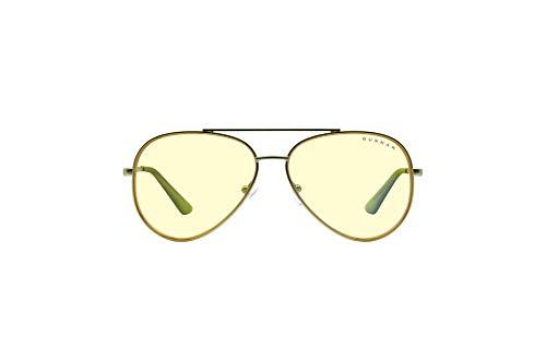 GUNNAR Gafas de juego y computadora | Maverick| Gafas de bloqueo de luz azul | Lente patentada, 65% protección de luz azul, 100% luz UV | Reduce la tensión ocular y la sequedad