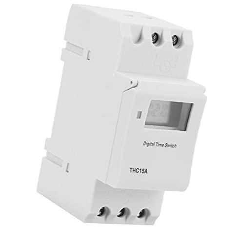 Sanfiyya Interruptor Rail Temporizador programable Thc15a 220-240Vac LCD con Temporizador Digital para Dispositivos automáticos