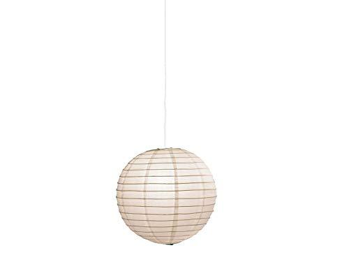 Lámpara colgante japonesa de papel, diámetro de 60 cm, papel blanco, con bombilla LED, Trio Leuchten