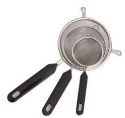 LINGSFIRE Malla Fina, 3 Piezas Juego Tamices Cocina Malla Fina, Colador, Colador de Tamiz Harina, Colador de Alimentos para Cocina con Asas Gruesas Antideslizantes de Acero Inoxidable