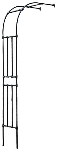 Halb-rosenbogen Verzinkt Gartentor Aus Metall Kordes, Rosenbogen Rankierhilfe Rosengestell Outdoor Garten Rasen Backyard Terrasse, Hochzeit (Color : Black, Size : 0.9x2.4m)