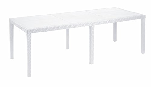 Esidra Tavolo Allungabile, Polipropilene, Bianco, 220 X 90 X 72 cm