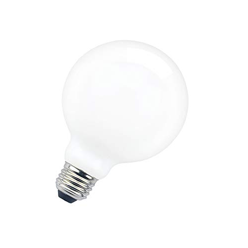 G30 Globe LED Light Bulb, Aluxcia G95 Edison Bulb G30 Frosted Bulb E26 Globe Opal White LED Bulb 100 Watt Equivalent for Garage Bathroom and Decoration Light, Daylight 6000K, 1-Pack