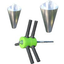 Power Plucker Feather Remover Medium Restraining Cone Large Restraining Cone Chicken Poultry Processing
