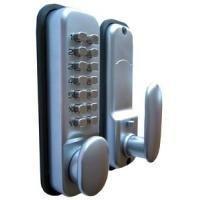 Digital Code Lock Door Lock - Chrome - Weather Resistant KeyPad Combination Key Coded Button Lock