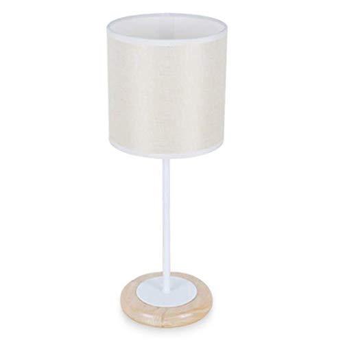 Lámpara de Mesa de Iluminación Decorativa Interior lámpara de mesa de protección for los ojos, la tela de roble moderna lámpara de noche nórdica decoración minimalista dormitorio sala de estar lámpara