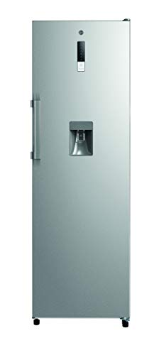Hoover HLS1862WDKM Freestanding Upright Fridge with Water Dispenser, Frost Free, 350L, 60cm wide, Stainless Steel, 186 x 60 x 69.5