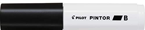 Pilot Pintor Brede Lijn Beitel Punt Marker 8mm Tip- Zwart (Pak van 6)