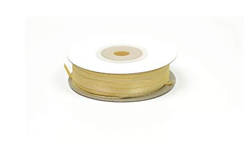 Creativery 50m Rolle Satinband 3mm (Creme/hellcreme 820) // Schleifenband Deko Band Dekoband Geschenkband Dekoration Hochzeit Taufe