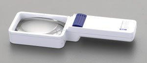 エスコ x3.5/75x50mmルーペ(LEDライト付・角形) EA756C-30