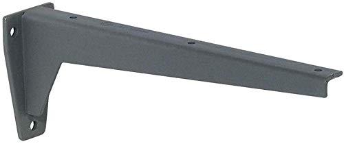 Gedotec Winkel-Schwerlastträger Metall Regalträger - MIRA | Tiefe: 480 mm | Schwerlast-Konsole Tragkraft 150 kg | Regalkonsole Stahl grau | Materialstärke 6 mm | 1 Stück - Wandkonsole für Regalböden