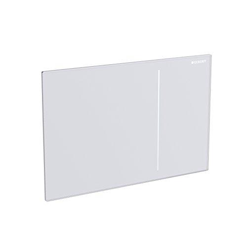 Geberit 115620SI1 Abdeckplatte SIGMA 70 115.620.SI.1 für 2-Mengenspülung Glas weiss
