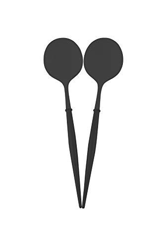 Sophistiplate Bella Serving Spoons, All Black, 2 Pack (BSS-105)