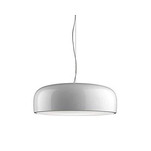 LFsem l giro finitura lucida e MUD Lampada da soffitto Lampada a sospensione Lampada pendente Lampadario Plafoniera per Sala da pranzo Soggiorno (Bianca, 350mm)