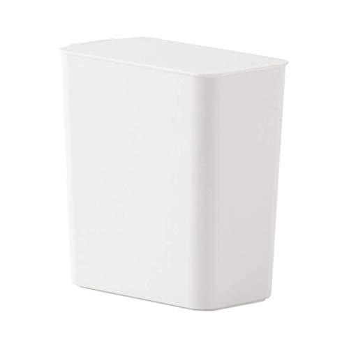 Mini Bote De Basura De Escritorio con Tapa, Cubo De Almacenamiento De Plástico Cuadrado Pequeño Dormitorio De La Casa De La Cesta De Papel