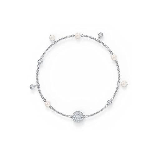 Pulsera Elegante Perla de Cristal Diamante Invisible Broche magnético Colgante Pulsera Linda y Plateada Delicada Pulsera de Amistad Zzib (Color : 1)
