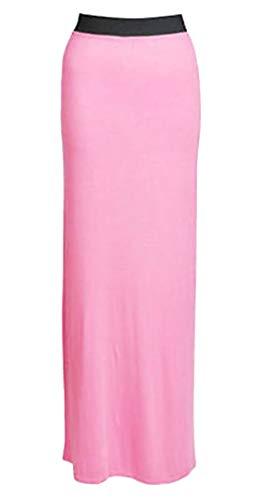 Dehnbares Zigeunerkleid in voller Länge, Größe 44-54, rosa