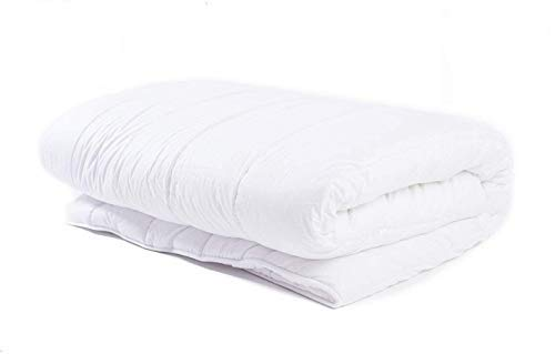 Amazinggirl Bettdecke 200x220 Sommerdecke Steppdecken Schlafdecke - Steppbettdecke warm für Allergiker hypoallergen weiß aus Microfaser 200 220