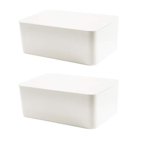 Caja dispensadora, caja dispensadora, toallitas, caja de almacenamiento para toallitas secas y húmedas, con tapa, 2 unidades
