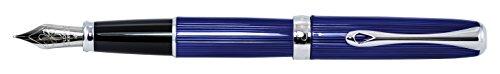 DIPLOMAT - Füllhalter Excellence A2 Skyline blau - Schick und elegant - Lange Lebensdauer - Funkelndes Blau