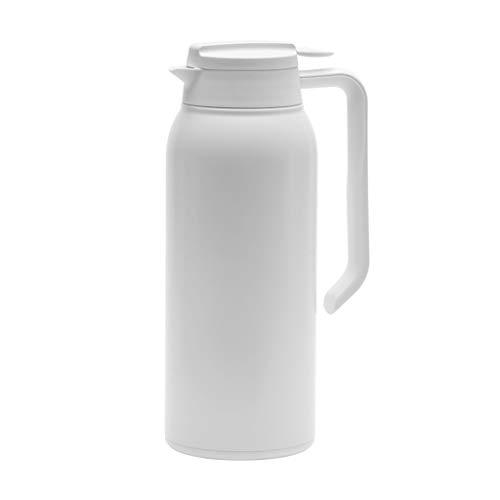 HZF Isoliertopf Aus Edelstahl 316, Haushalts-Thermoskanne Mit Großer Kapazität, Kleiner Kaffeekanne/Teekanne Thermokanne (1,5 L)(Color:Weiß)