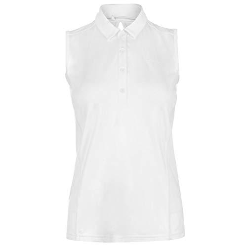 Slazenger Damen Golf Polo Shirt Ärmellos Unifarben Weiß S
