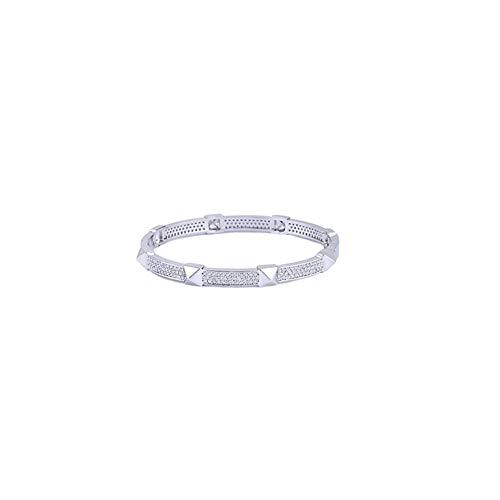 Z&HA Damen-Goldarmband - 18K Gold plattiert Damen-Klassiker-Armband, Modisches Gold/Silber-Armband für den täglichen professioneller Schreibtisch,01